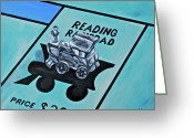 Monopoly Greeting Cards - Take a Ride on the Reading  Greeting Card by Herschel Fall
