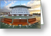 Cruise Ships Greeting Cards - Take a Seat Greeting Card by Alex Hardie