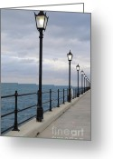 Walk Way Photo Greeting Cards - Take a Stroll with Me Greeting Card by Luke Moore
