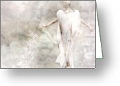 Angel Digital Art Greeting Cards - Take me Home Greeting Card by Photodream Art