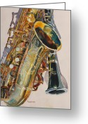 Big Band Greeting Cards - Taking a Shine to Each Other Greeting Card by Jenny Armitage