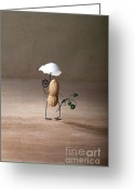 Peanuts Greeting Cards - Taking a Walk 01 Greeting Card by Nailia Schwarz