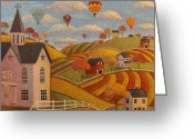 Star Barn Greeting Cards - Taking Flight Greeting Card by Mary Charles