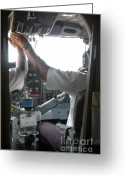 Pilots Greeting Cards - Taking off Greeting Card by Andy Smy