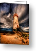 Shore Digital Art Greeting Cards - Talacre Lighthouse Greeting Card by Adrian Evans