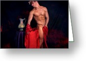 Body Posters Mixed Media Greeting Cards - Talk About It Greeting Card by Mark Ashkenazi