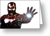 Ironman Greeting Cards - Talk to the Hand Greeting Card by The DigArtisT