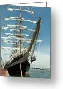 Clods Greeting Cards - Tall Ship Greeting Card by Jim Moore