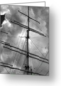 Daniel Greeting Cards - Tall Ship Masts Greeting Card by Robert Ullmann