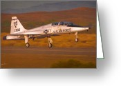 Airplane Greeting Cards - Talon Takeoff Greeting Card by Dale Jackson