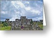 Archaeological Greeting Cards - Talum Ruins 8 Greeting Card by Douglas Barnett
