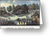 Early Drawings Greeting Cards - Tampa Bay - Fort Brooke Greeting Card by Granger