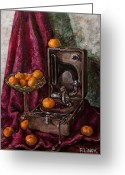 Tangerines Greeting Cards - Tangerines Greeting Card by Boris Filinov