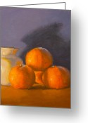Tangerines Greeting Cards - Tangerines Greeting Card by Joe Bergholm