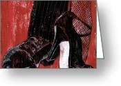 Old Painting Greeting Cards - Tango Greeting Card by Debbie DeWitt