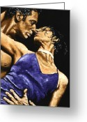 Dancers Greeting Cards - Tango Heat Greeting Card by Richard Young