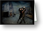 Digital-photography Photo Greeting Cards - Tango Portuario Greeting Card by Raul Villalba