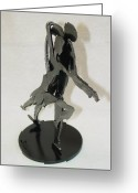 Male Sculpture Greeting Cards - Tango SOLD Greeting Card by Steve Mudge