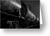 Railroad Tracks Greeting Cards - Tanker Cars Greeting Card by Bob Orsillo