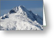 Winter Trees Greeting Cards - Tantalus Mountain Greeting Card by Pierre Leclerc