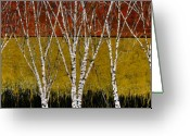 Canada Painting Greeting Cards - Tante Betulle Greeting Card by Guido Borelli