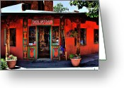 Albuquerque Greeting Cards - Taos Artisans Gallery Greeting Card by David Patterson