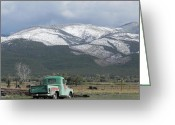 Adrienne Petterson Greeting Cards - Taos in New Mexico Greeting Card by Adrienne Petterson
