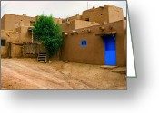Taos Pueblo Greeting Cards - Taos Greeting Card by Jerry McElroy