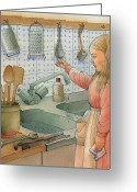 Water Drawings Greeting Cards - Tap Greeting Card by Kestutis Kasparavicius