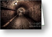 Lights Digital Art Greeting Cards - Tar Tunnel 1787 Greeting Card by Adrian Evans