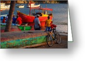 Taganga Greeting Cards - Tarde Bueno Greeting Card by Skip Hunt