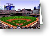 Baseball Park Greeting Cards - Target Field Greeting Card by Lyle  Huisken