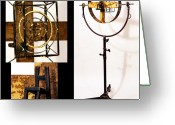Standing Sculpture Greeting Cards - Target Greeting Card by Greg Shelnutt