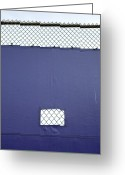 Secrecy Greeting Cards - Tarp Covering Chain Link Fence Greeting Card by Paul Edmondson