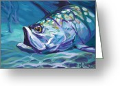 Sporting Greeting Cards - Tarpon Greeting Card by Mike Savlen