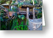 Disneyland Greeting Cards - Tarzan Treehouse Greeting Card by Karon Melillo DeVega