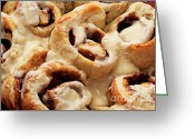Brunch Greeting Cards - Taste Of Home Cinnamon Rolls Greeting Card by Andee Photography