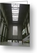 21st Century Art Greeting Cards - Tate Modern Art Gallery Greeting Card by Carlos Dominguez
