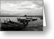 Burma Greeting Cards - Taungthaman Lake Greeting Card by RicardMN Photography