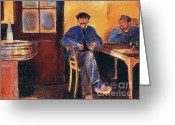 Two Men Greeting Cards - Tavern In Saint Cloud Greeting Card by Pg Reproductions