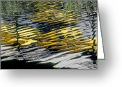 Reflection Greeting Cards - Taxi Abstract Greeting Card by Tony Cordoza