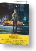Brooks Greeting Cards - Taxi Driver - Robert De Niro Greeting Card by Nomad Art and  Design