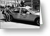 James Barnes Greeting Cards - Taxi Greeting Card by James Barnes