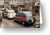 Taxi Cab Greeting Cards - Taxi London  Greeting Card by Stefan Kuhn