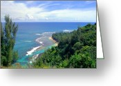 Sky Studio Greeting Cards - Taylor Camp Haena Kauai Greeting Card by Kevin Smith