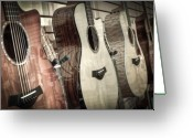 Taylor Guitar Greeting Cards - Taylor Greeting Card by David  England