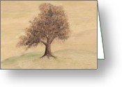 Lanscape Mixed Media Greeting Cards - Tea and Coffee Tree Wide Greeting Card by Chris Hall