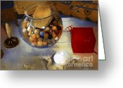 Teapot Greeting Cards - Tea and Toys Greeting Card by RC DeWinter