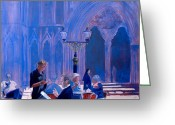 Nun Greeting Cards - Tea at York Minster Greeting Card by Neil McBride