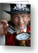 Hatter Greeting Cards - Tea Greeting Card by David Lade